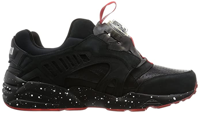 68a644fcee91 PUMA Disc Blaze x Trapstar Black High Risk Red White Trainer  Amazon.co.uk   Shoes   Bags