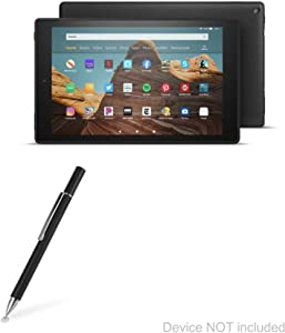 Amazon Fire HD 10 (2019) Stylus Pen, BoxWave® [FineTouch Capacitive Stylus] Super Precise Stylus Pen for Amazon Fire HD 10 (2019) - Jet Black