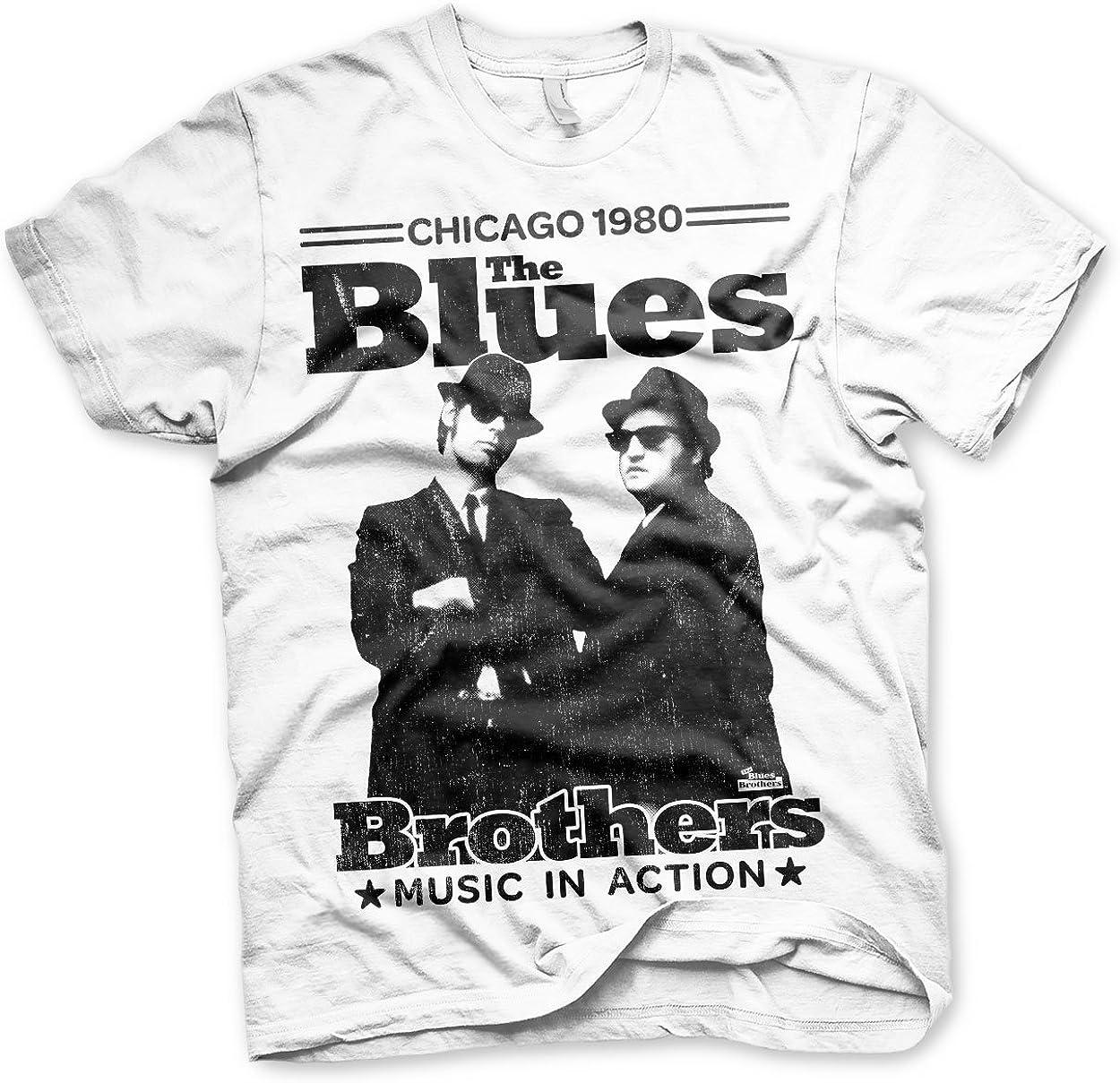 Oficialmente Licenciado Azuls Brothers - Chicago 1980 Camiseta para Hombre (Blanco): Amazon.es: Ropa y accesorios