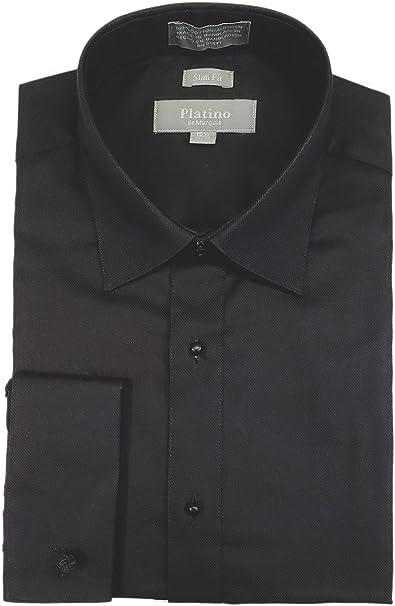 Amazon.com: Marquis Platino Camisa de esmoquin de algodón ...