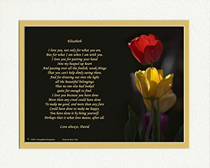 amazon com personalized gift for wife or girlfriend tulips photo