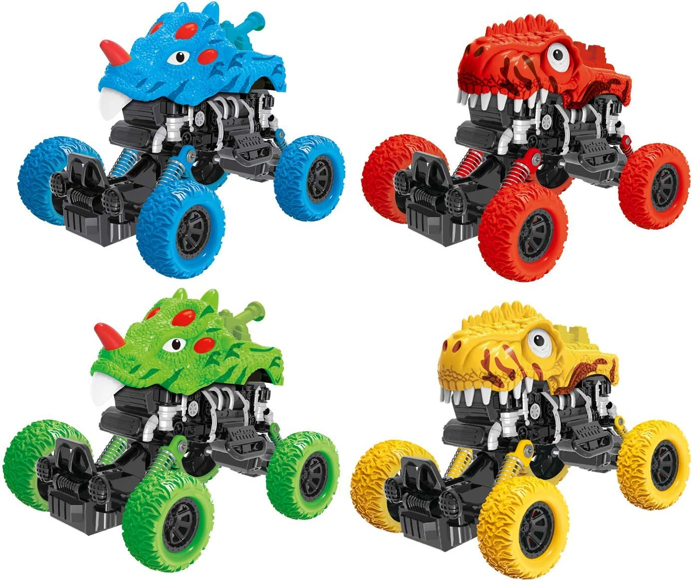 Children Mini Dinosaur Animal Pull Back Cars Model Vehicles Model Play Set Toys