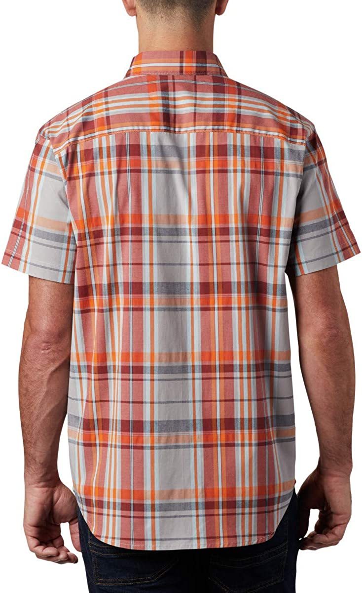 Columbia Men's Rapid Rivers Ii Short Sleeve Shirt Button Sky Blue Large Plaid
