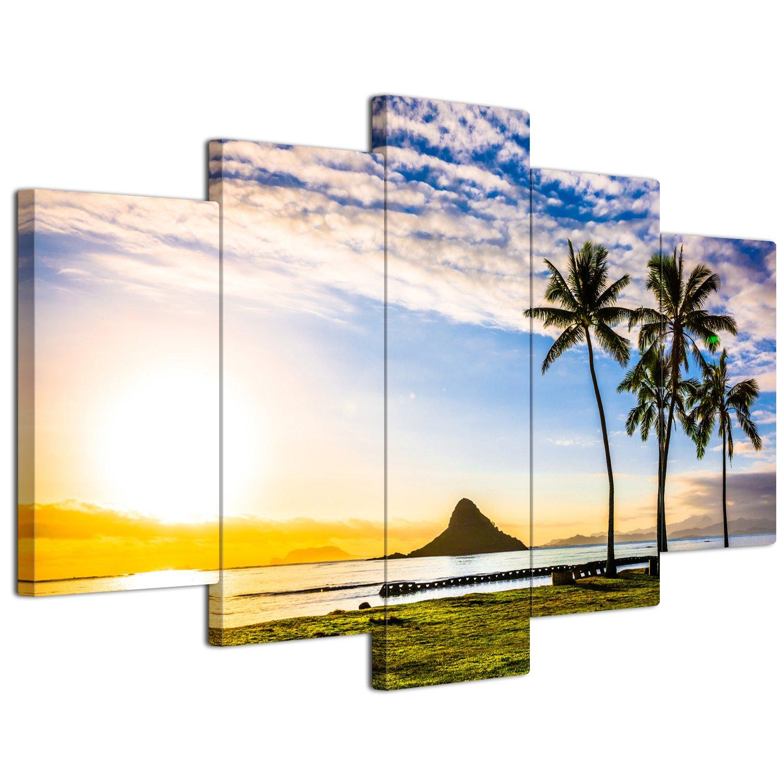 【リブラLibra】 5パネルセット アートパネル インテリアアート 海の景色 キャンバス絵画 (木枠付きの完成品) (S, LP1752) B075VKMLZ7 Small|LP1752 LP1752 Small