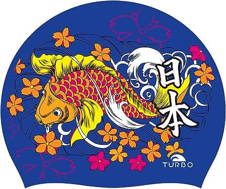 Turbo Gorro Natación Silicona JAPAN VIBES Silicone Cap: Amazon ...