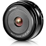 Neewer® NW-E-28-2.8 28mm f/2.8 Enfoque Manual Primer Lente Fija para SONY E-Mount Cámaras Digitales, Como Sony NEX3, 3N, 5, 5T, 5R, 6, 7, A5000, A5100, A6000, A6100 y A6300
