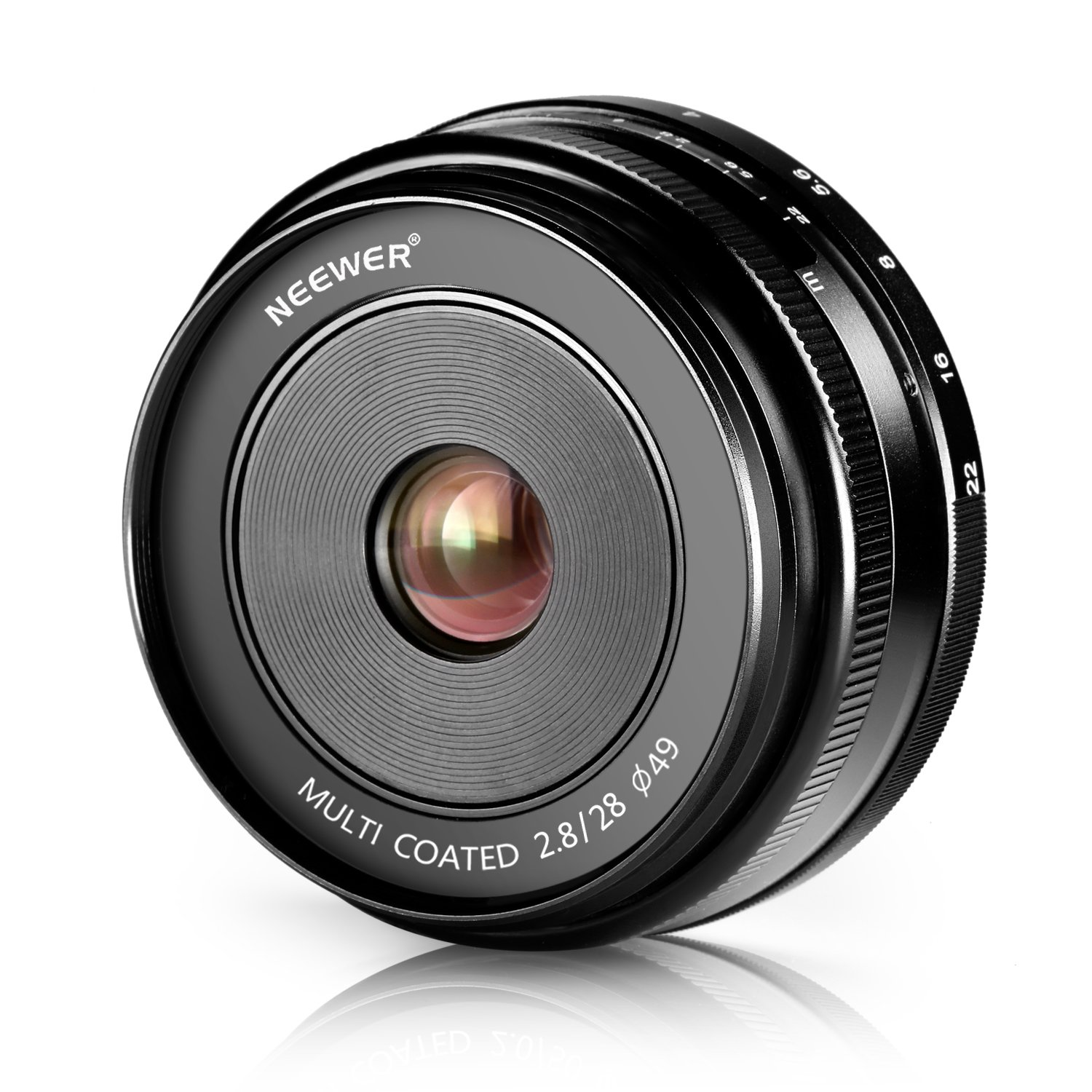 Neewer 28mm f/2.8 Manual Focus Prime Fixed Lens for Sony E-Mount Digital Cameras, Such as NEX3, 3N, 5, 5T, 5R, 6, 7, A5000, A5100, A6000, A6100 and A6300 (NW-E-28-2.8) by Neewer