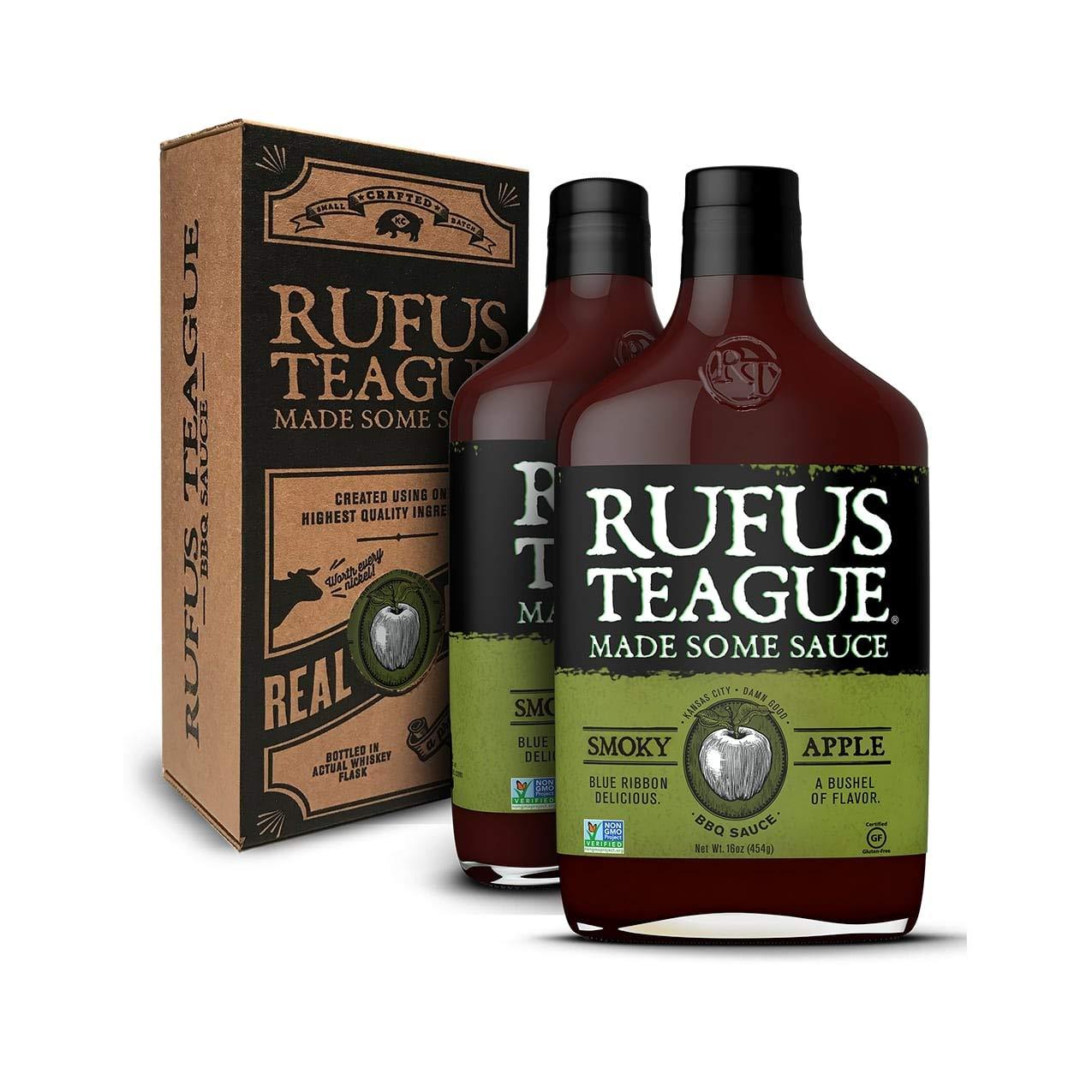 Rufus Teague - Smoky Apple BBQ Sauce - Premium Barbecue Sauce - 16 oz. Bottles - 2 Pack