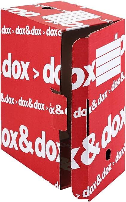 Rexel Caja Archivo Definitivo Dox - Organizador de almacenaje (Rojo, Rojo, Rojo): Amazon.es: Oficina y papelería