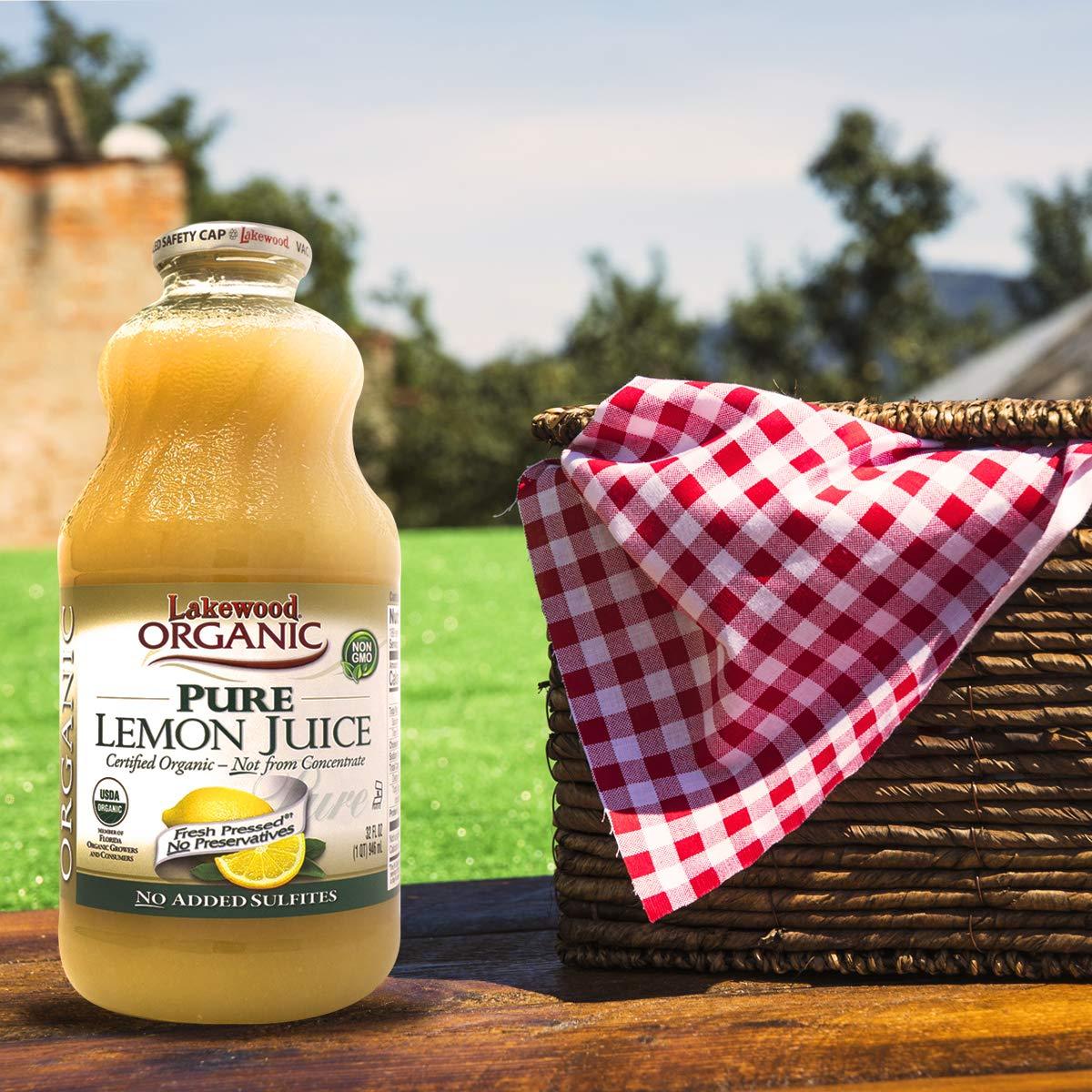 Lakewood Organic Pure Lemon, 32 Ounce (Pack of 6) by Lakewood (Image #5)