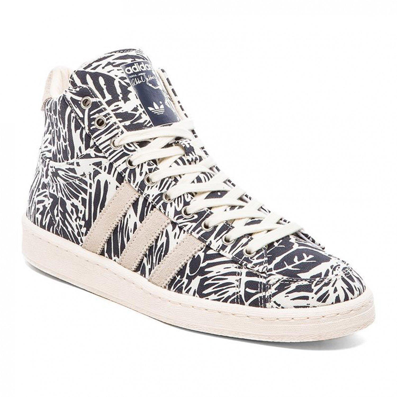 adidas Jabbar Mid Chaussures Mode Sneakers Homme Blanc Bleu Abdul Jabbar  Basketball T:43 1/3: Amazon.fr: Chaussures et Sacs