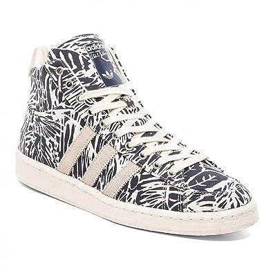 adidas Jabbar Mid Chaussures Mode Sneakers Homme Blanc Bleu