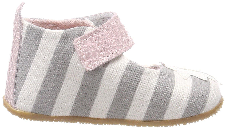 Living Kitzb/ühel Baby M/ädchen Babyballerina Streifen und Schmetterling Hausschuhe