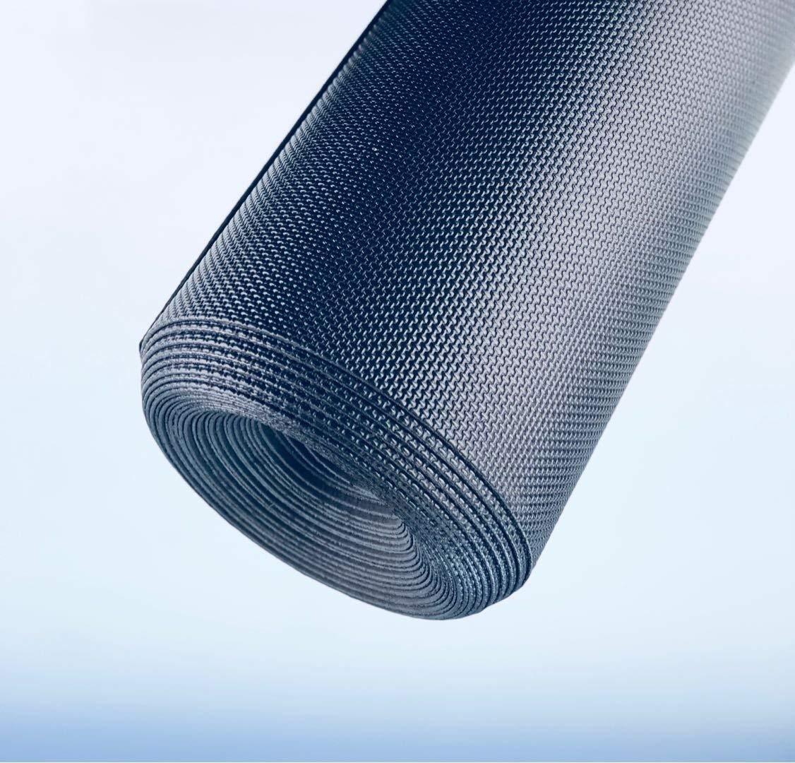 AMERIQUE 691322303407 Premium 3Rd Generation Unique and Durable Embossed Diamond Plate Metallic Vinyl Flooring, 4' x 12.5'/50 sq. ft, Black Diamond, Square Feet