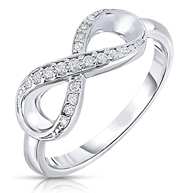 d8fb335d6 Amazon.com: Tilo Jewelry 925 Sterling Silver Forever Infinity Ring ...