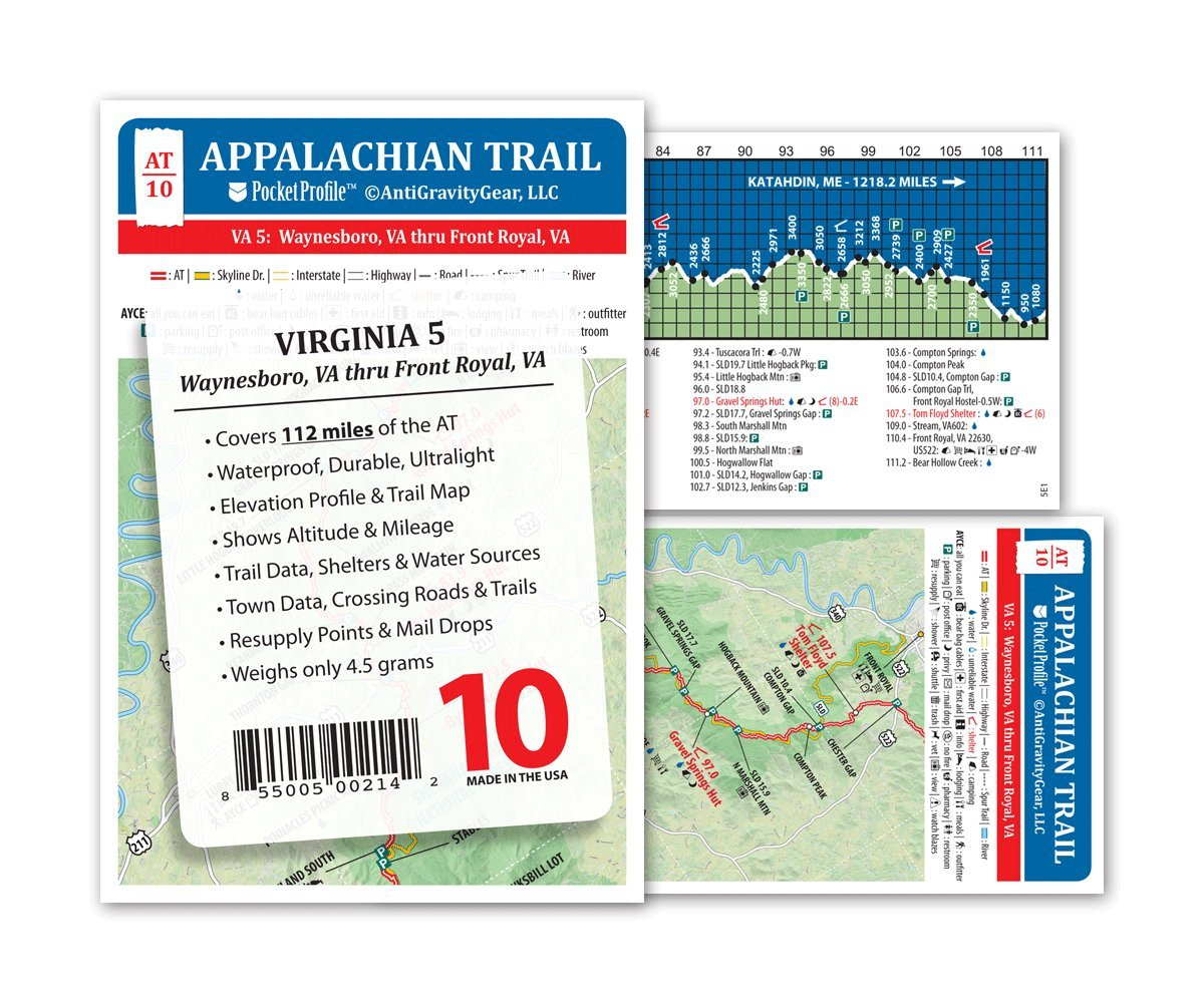 Amazoncom Appalachian Trail Map AT10 Shenandoa National Park AT