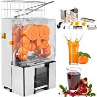 VEVOR Electric Orange Juicer Commercial Squeezer Machine Lemon Automatic Auto Feed Perfect for Drink Bar and Home Supermarkets, 40-80mm/22-30 Per Minute, 304 Stainless Steel Tank+PC Cover