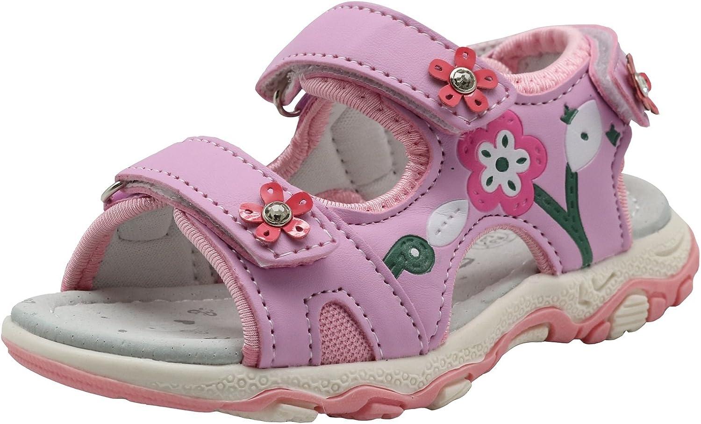Toddler//Little Kid Apakowa Kids Girls Open Toe Athletic Beach Sandals