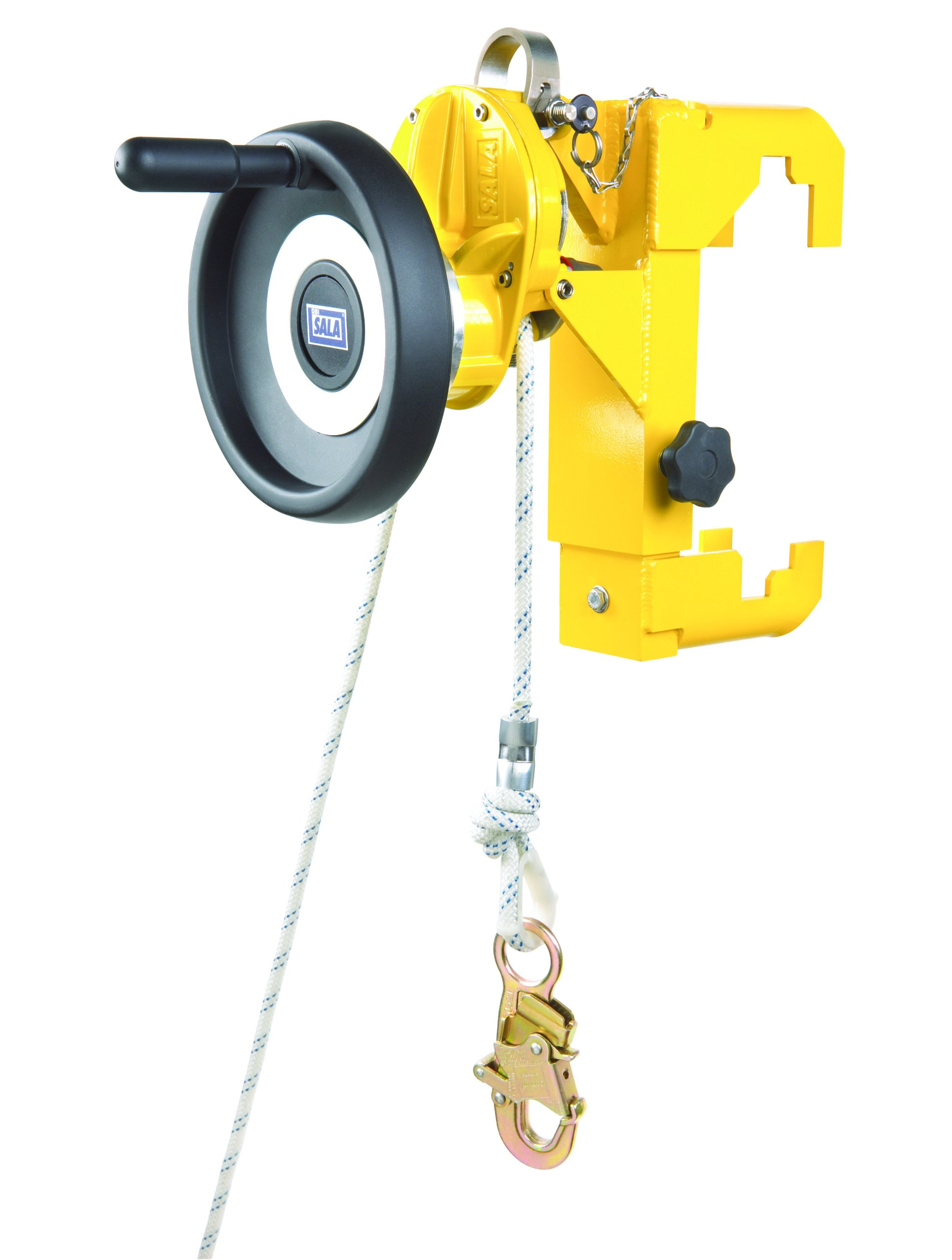 3M DBI-SALA Rollgliss R500 3320300 Rescue/Descent Kit, 300', W/Rescue Lifting Handle, Ladder Bracket, 3 Anchor Slings, 4 Carabiner, Pulley, Edge Protector, Rope Grab, Bag, Yellow