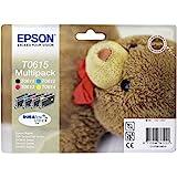 Epson C13T06154020 Confezzione 4 Cartucce Inkjet Blister RS T0615, Multicolore