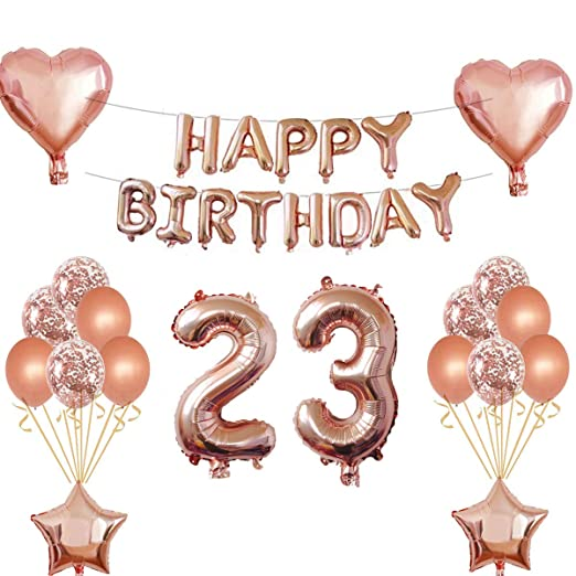 Oumezon - 23 Globos para decoración de cumpleaños para niñas ...
