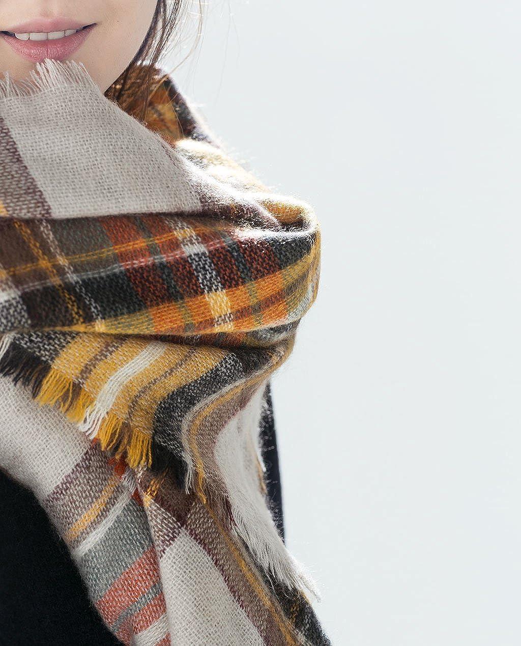 Amazon.com: Del diseñador inspirado Tartán Oversized bufanda ...