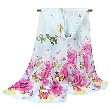 c8218fc22d75 DYEWD Foulards,foulard Femme, 2018 nouvelle écharpe, foulard imprimé  papillon, écharpe mince