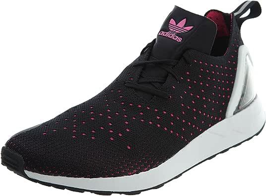 adidas Mens S79063 Men's Zx Flux Racer Asym Pk Core Black/Shock Pink/Core White S79063