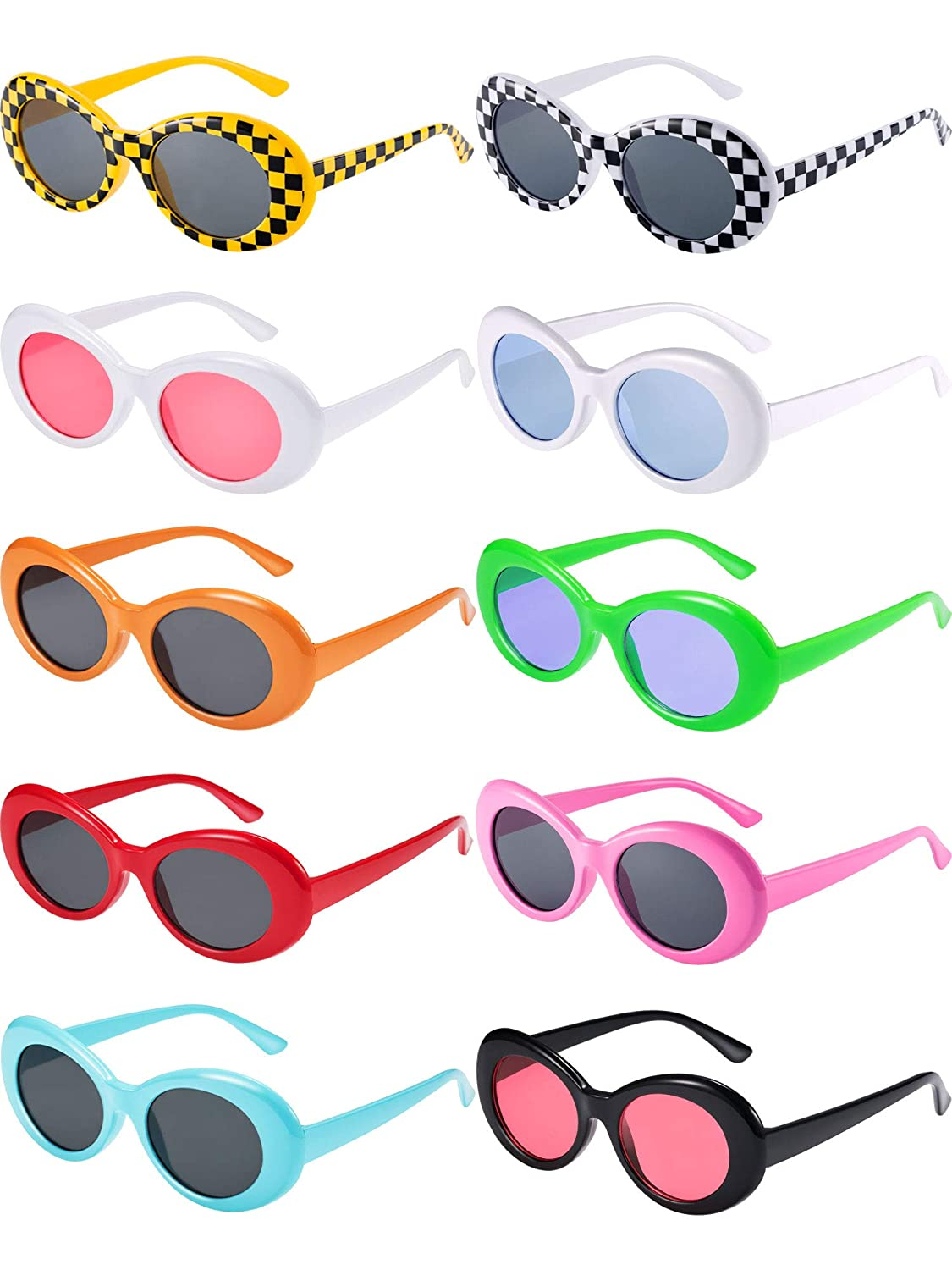Amazon.com: Blulu 10 pares de gafas de sol retro Clout ...