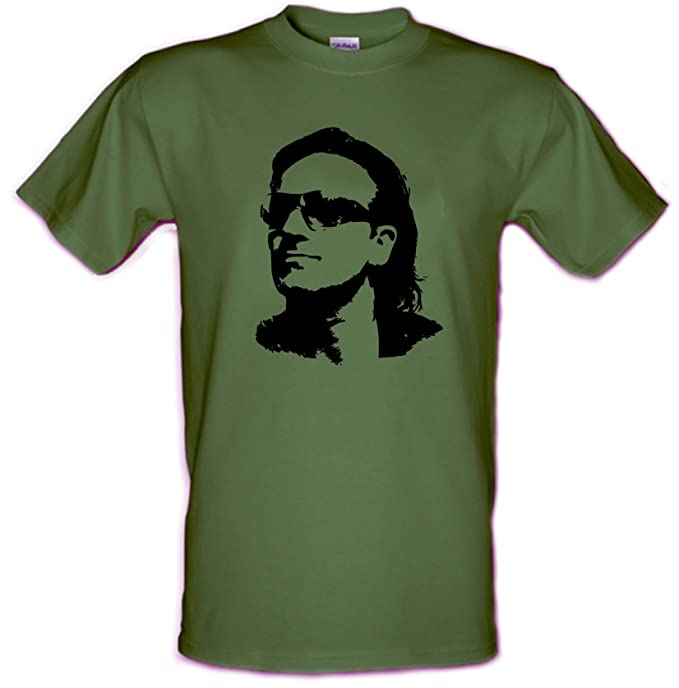 Bono U2 Rock irlandés Che Guevara estilo Gildan Heavy Cotton T-Shirt todos los tamaños pequeño - XXL: Amazon.es: Ropa y accesorios