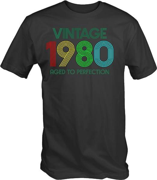 6TN Uomo Realizzato in Maglietta degli Anni 80