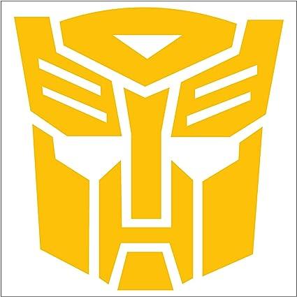 Amazon Transformers Autobot Logo Vinyl Sticker Decal Yellow 4