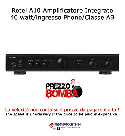 Rotel A10 amplificador integrado 40 W/entrada phono/Clase AB Color Black