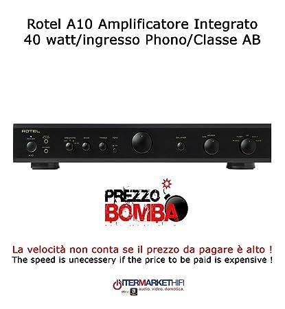 Rotel A10 amplificador integrado 40 W/entrada phono/Clase AB Color Black
