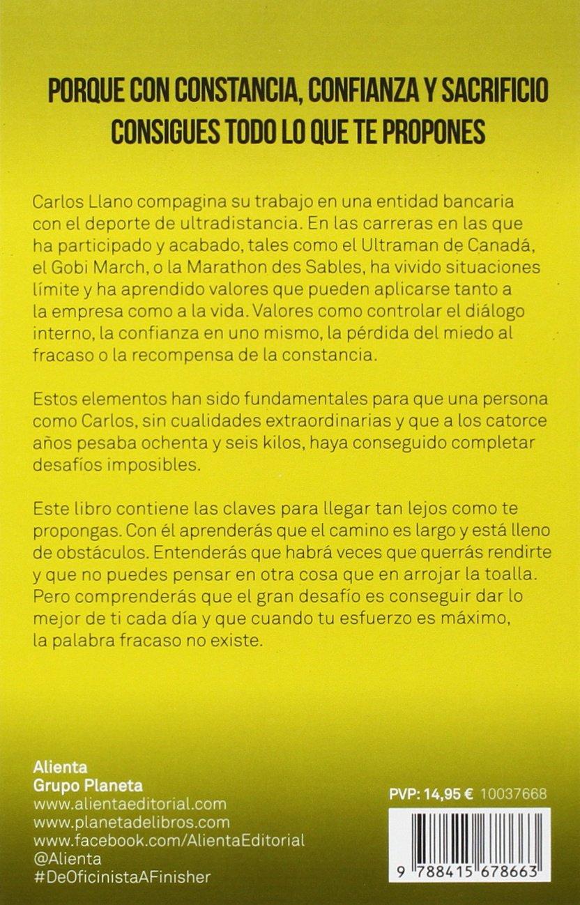 De oficinista a finisher: Carlos Llano Fernández: 9788415678663: Amazon.com: Books