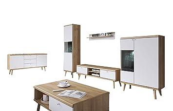 mb-moebel Moderne Wohnwänd Wohnzimmer Skandinavische Möbel ...