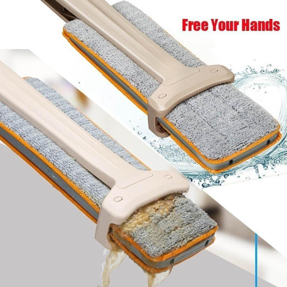 FTXJ Double-Side Dry and Wet Flat Mop Hands-Free Washable Home Floor Cleaner (Mop) by FTXJ (Image #6)