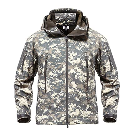 24a4e4b38fc0f Shark Skin Military Jacket Men Softshell Waterpoof Camo Clothes Tactical  Camouflage Army Hoody Jacket Male Winter