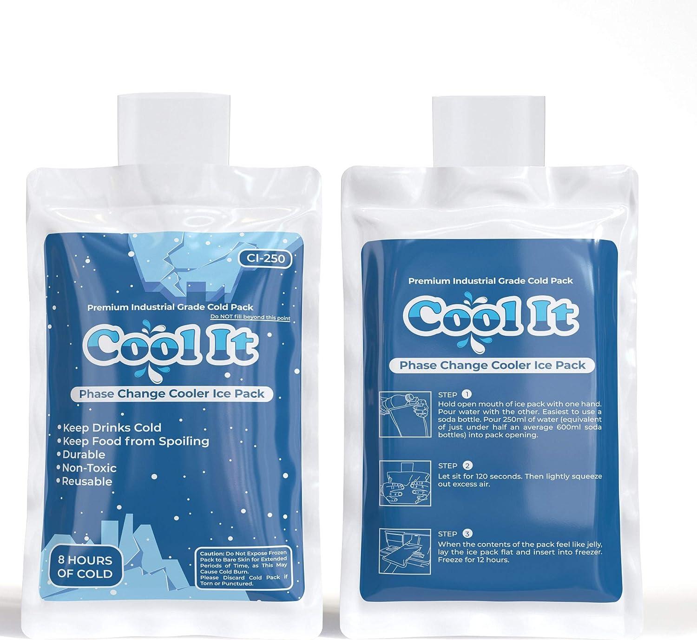 Cool It Ice Pack para lonchera – Paquetes de gel de hielo reutilizables para la lonchera, bolsa de almuerzo aislada, bolsa de leche materna y más – no necesita hielo [Tamaño pequeño