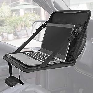 JOYTUTUS Car Eating/Laptop Steering Wheel Desk, Laptop Tablet Bag,Multifunctional Car Laptop Desk, Car Work Table for Dining Writing, Kids Car Organizer, Police, Commuters, Kids, Patent Pending