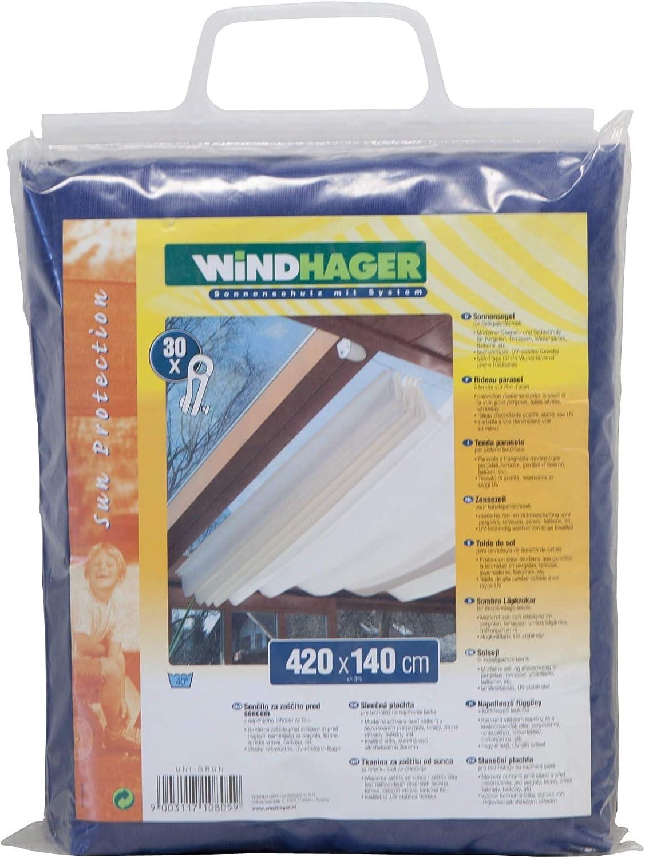 Windhager Toldo para Estructura corredera, Azul Puro, 420 x 140 cm: Amazon.es: Jardín