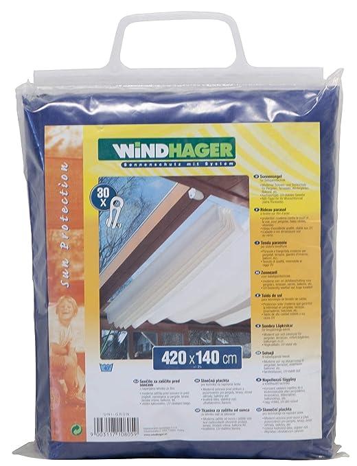 WINDHAGER Toldo para Estructura corredera, Azul Puro, 420 x ...