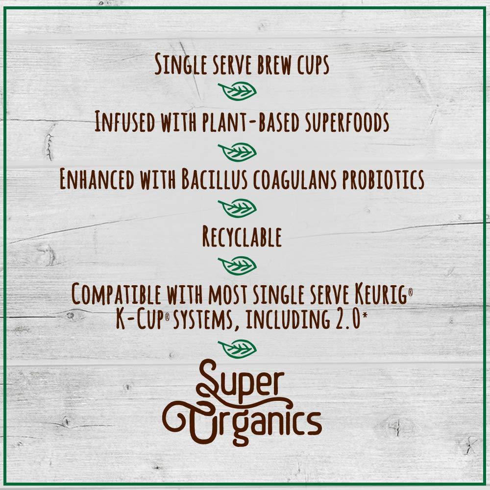 Super Organics Beauty Boost Green Tea Pods With Superfoods & Probiotics | Keurig K-Cup Compatible | Beauty Tea, Skin Care Tea | USDA Certified Organic, Vegan, Non-GMO Natural & Delicious Tea, 72ct by Super Organics (Image #8)