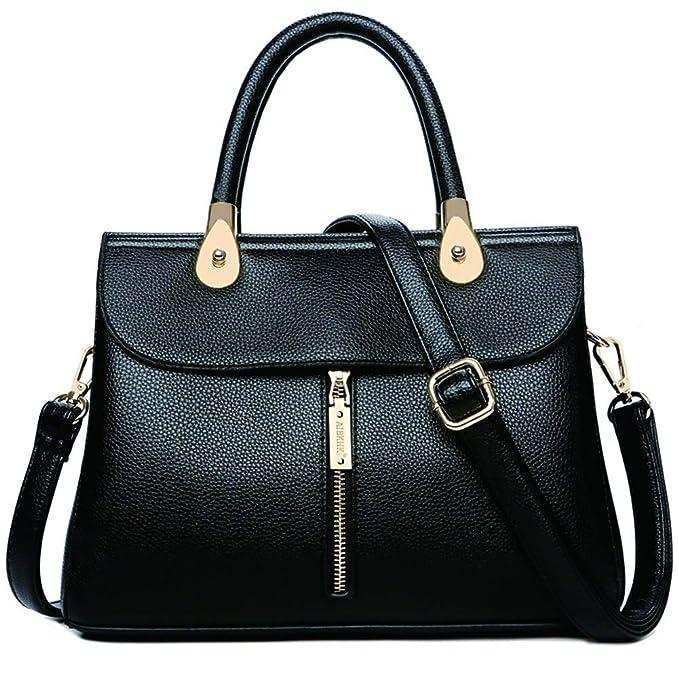 HXXA Moda Mujeres Simple estilo zip Bolso Bolsa Grande ...