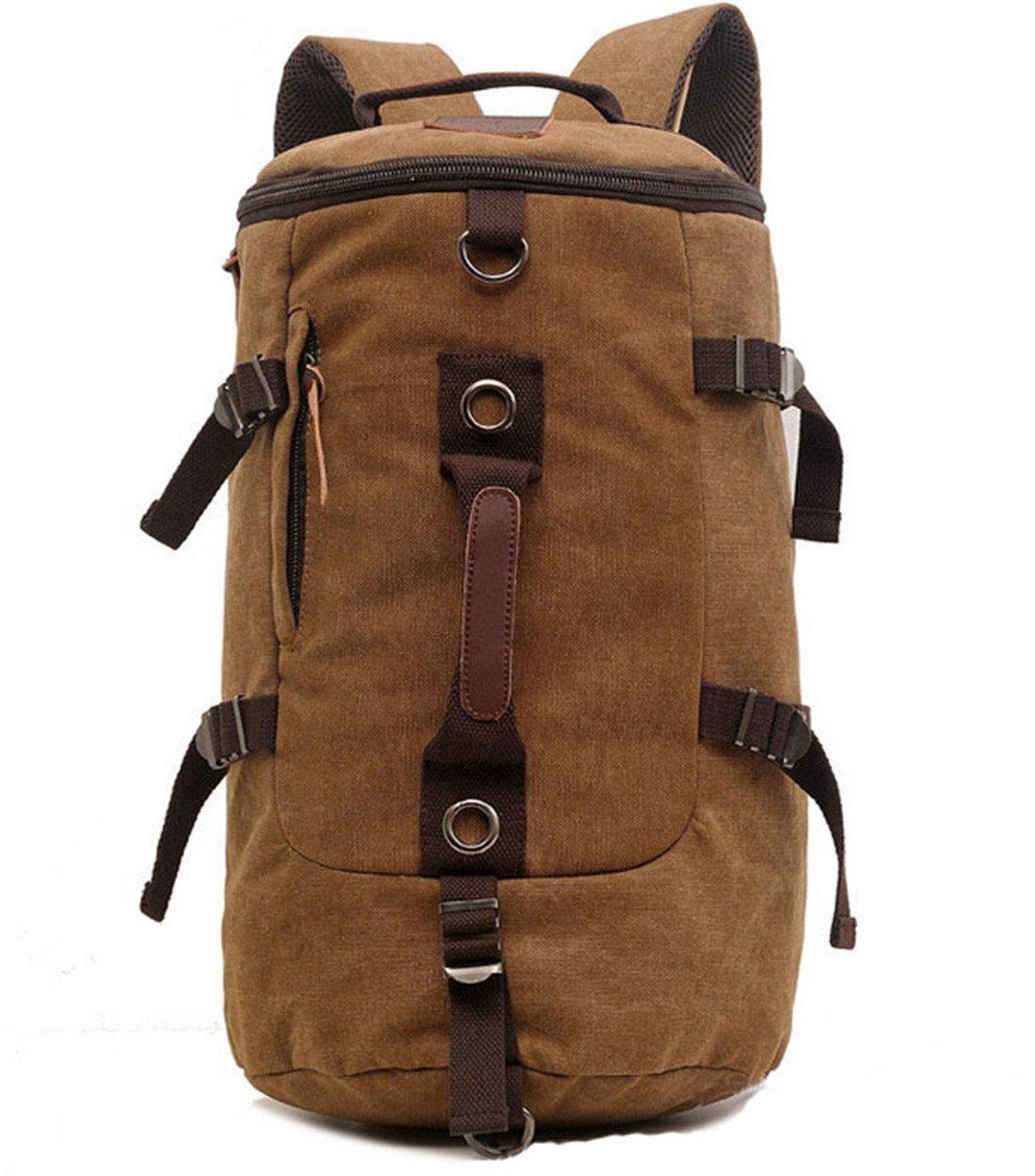 Large Capacity Men s Travel Bag   Mountain Backpack   Hiking Camping  Backpack   Gym Bag   Laptop backpack   Shoulder Bag   Retro Canvas Weekend  Travel ... c5f48dfde016a