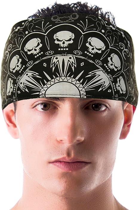 d633f91be75 Amazon.com: Skull and Bones Choptop Bandana Headband Durag Head ...