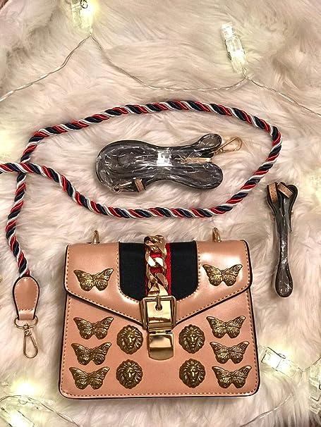 b0e575162 Bolsa Inspiração Gucci Animal Studs Mini Bag: Amazon.com.br: Amazon Moda