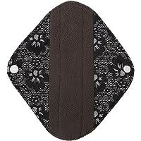 GLOGLOW Cojín Menstrual Lavable, Reutilizable Panty Liners de Mujeres de Tela de bambú Toallas sanitarias Carbón Capa Externa (s)