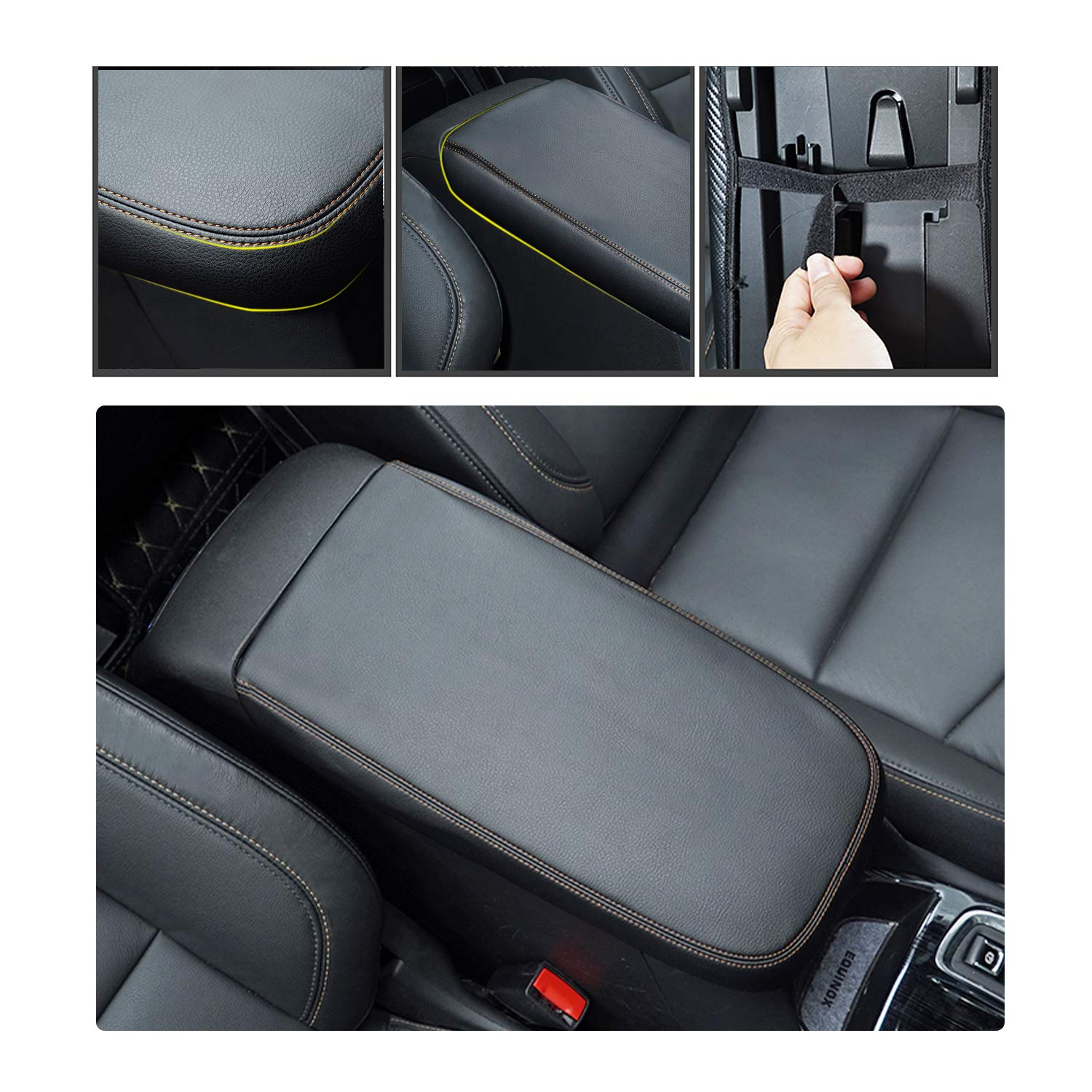 Armrest Cover with Carbon YEE PIN Car Center Armrest Cover Saver Console Lid Cover Fit for 2019 RAV 4 XA50 Center Console Armrest Box Scratch Resistance