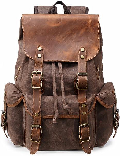DAMEN RUCKSACK Leder Optik Backpack Schule Friezeit Reisetasche Schultertasche